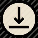 arrow, down, download, receive, ui, ux