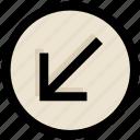 arrow, direction, down, left, ui, ux