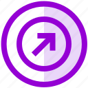 arrow, circle, direction, sent, ui, up, ux icon