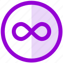 infinite, infinity, loop, tool, ui, ux icon