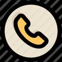 call, receiver, telephone, ui, ux