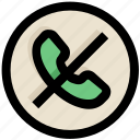 call, off, receiver, telephone, ui, ux