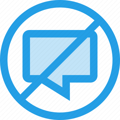 cancel, chat, close, message, no, notification icon
