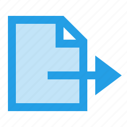 doc, document, execute, export, file, interface, produce icon