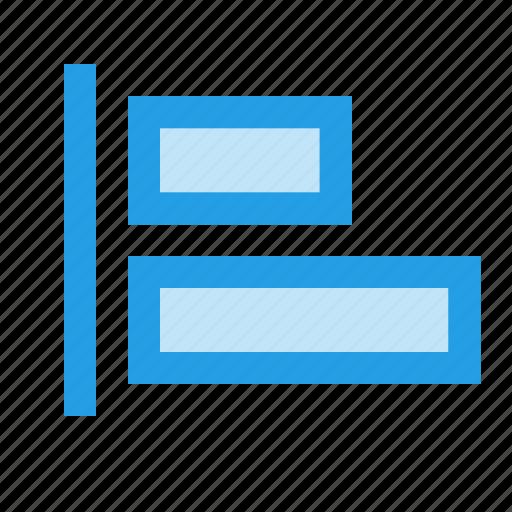 align, alignment, arrange, horizontal, left, margin icon