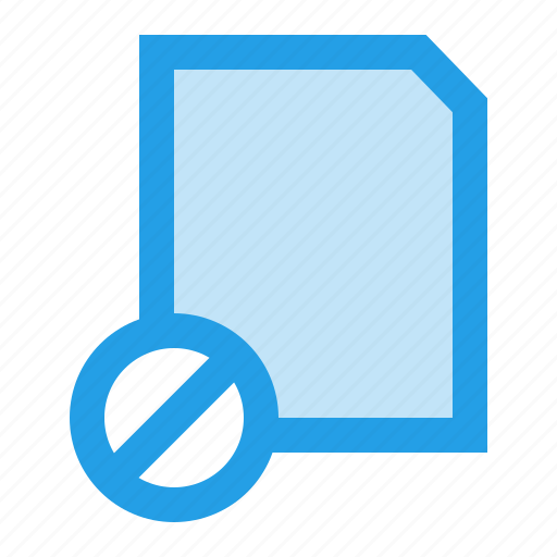 banned, block, doc, file, interface, layer, ui icon