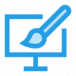 brush, drawing, graphic, interface, lcd, monitor, paint icon
