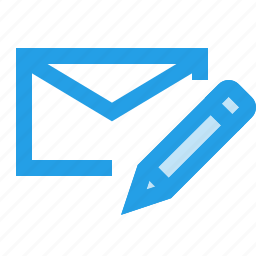 edit, email, interface, mail, message, pencil, write icon