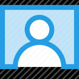 contact, interface, person, screen, tile, user icon