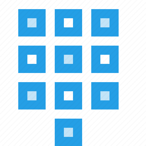 arrange, keypad, numbers, numpad, square, tile icon