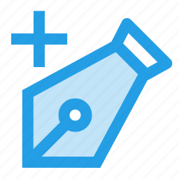 add, anchor, drawing, pen, plus, pointer, tool icon