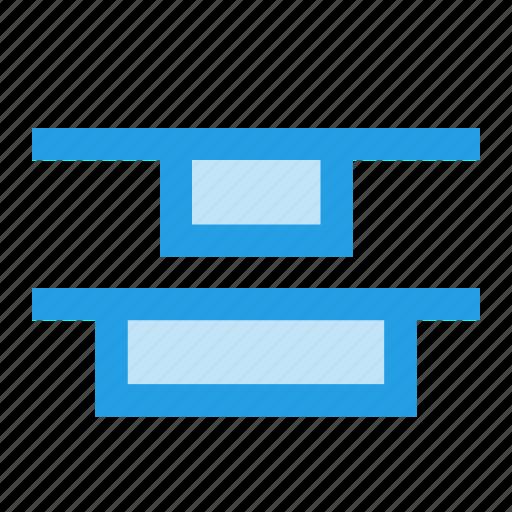 align, alignment, center, distribute, top, vertical icon