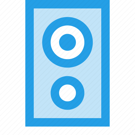 device, electronic, music, peripheral, speakers, woofer icon