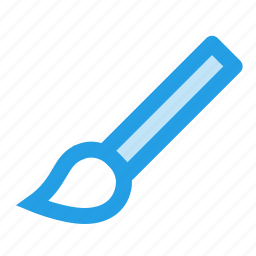 brush, design, drawing, interface, paint, tool icon