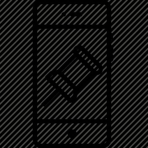 add, attach, interface, location, mobile, navigate, pin icon