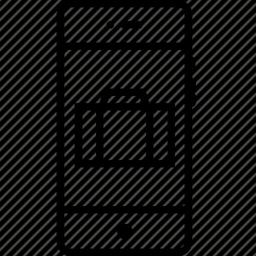 bag, interface, kit, mobile, phone, tool, toolkit icon