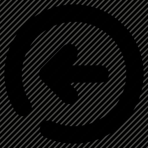 arrow, direction, left, navigation, previous icon