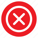cancel, circle, circular, delete, error, round, web icon