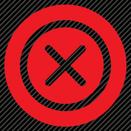 cancel, circle, circular, delete, error, round, web icon