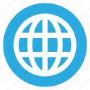 circle, circular, globe, round, user interface, web, world icon