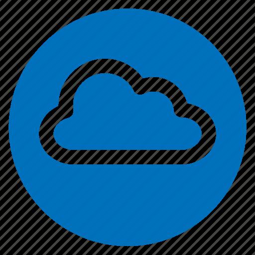 circle, circular, cloud, round, user interface, weather, web icon