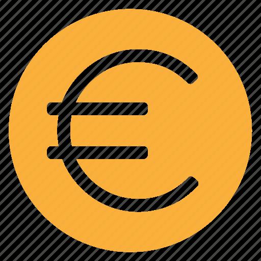 circle, circular, coin, euro, money, round, web icon