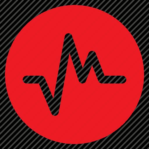 beat, circle, circular, heart, heartbeat, round, web icon