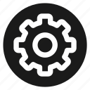 circle, circular, cog, cogwheel, round, settings, web icon