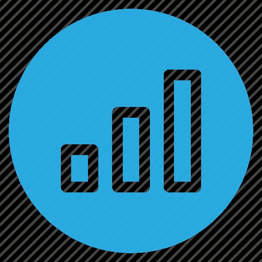 circle, circular, finance, graph, round, vertical bar, web icon