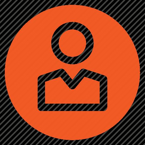 avatar, circle, circular, man, person, round, web icon