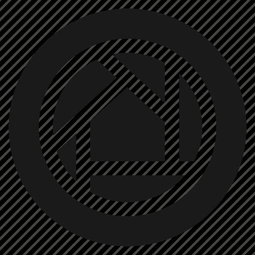 circle, circular, photo, photography, round, shutter, web icon