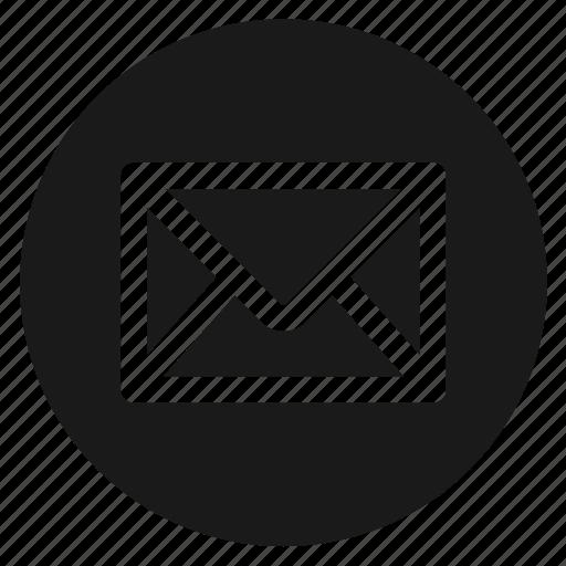 circle, circular, email, envelope, message, round, web icon
