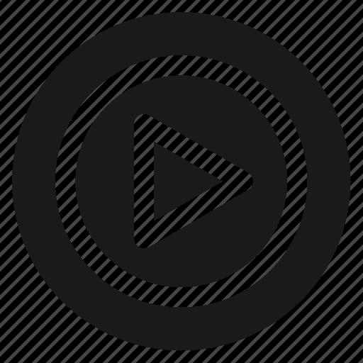 circle, circular, movie, play, round, video, web icon