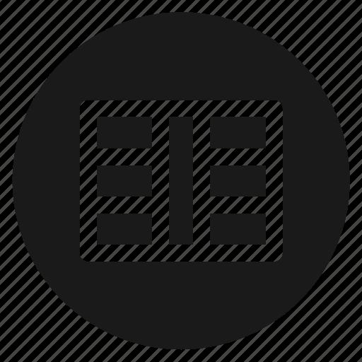 circle, circular, grid, round, web icon