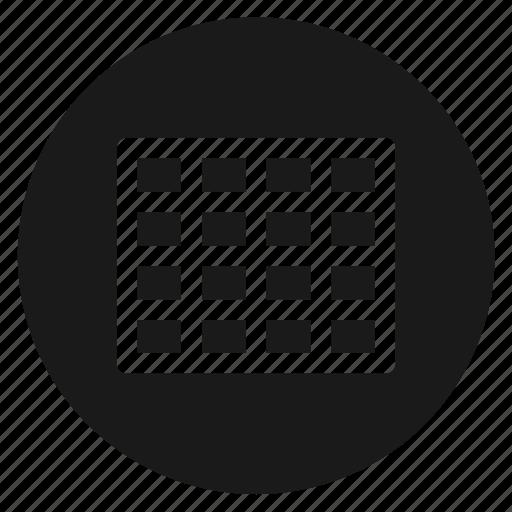 circle, circular, excel, grid, round, web, xls icon