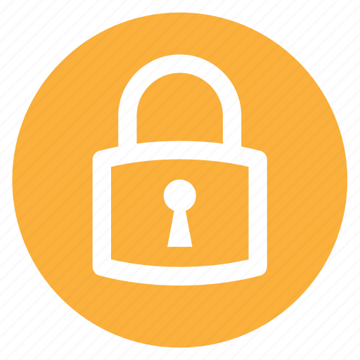 circle, circular, locked, padlock, round, security, web icon