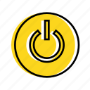 off, on, power, turn off icon