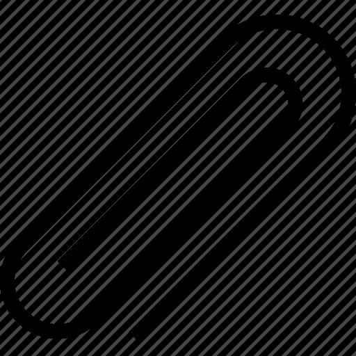 attachment, clip, paperclip icon