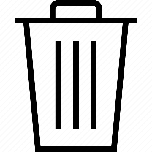 bin, dustbin, garbage, recycle, rubbish bin icon