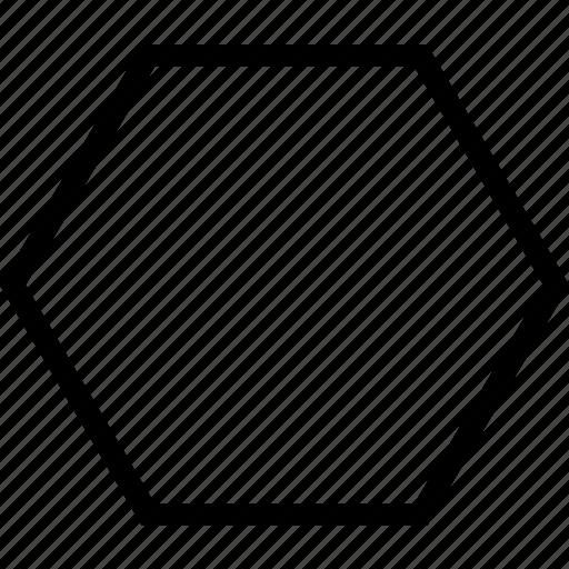 geometry, hexagon, shape icon