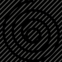 line, spiral, turn icon