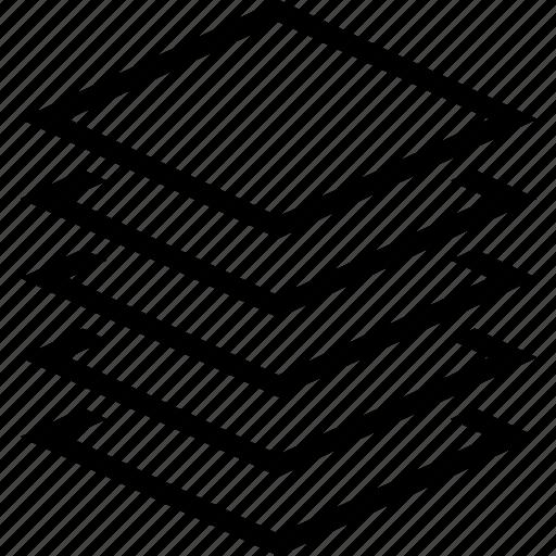 layer, many, multiple, sheet, slab, stack icon