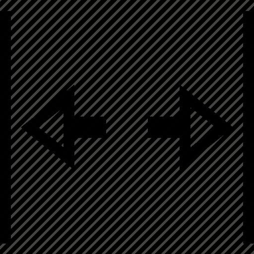arrow, door, expand, open, wide icon