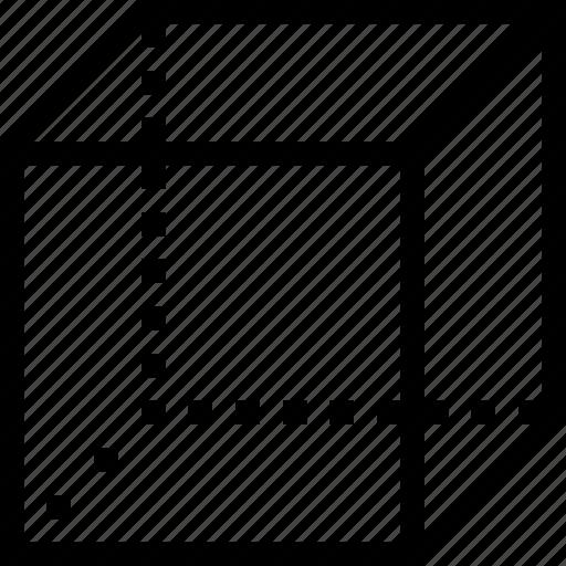 box, cube, dimension, three d icon