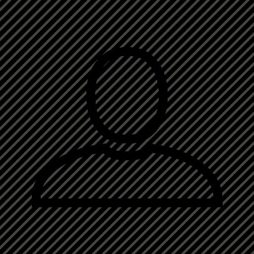 account, line, profile, user icon