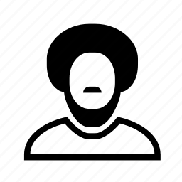 account, afro, beard, man, moustache, profile, user icon
