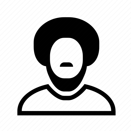 account, afro, beard, man, moustache, profile, user icon