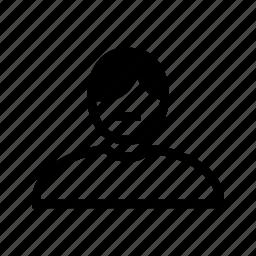 account, hair, line, man, moustache, profile, user icon