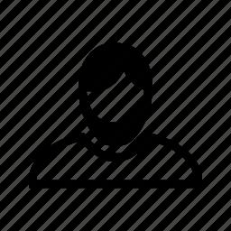 account, beard, hair, line, profile, user icon