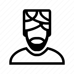 account, beard, man, muslim, profile, turban, user icon